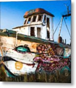 An Wooden Old Ship 2 Metal Print