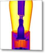 An X-ray Of Historic Audion Vacuum Tube Metal Print