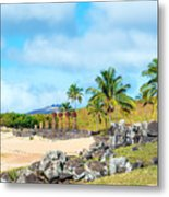 Anakena At Easter Island Metal Print