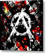 Anarchy Punk Metal Print