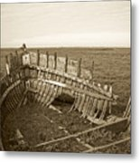 Anatomy Of An Old Boat Metal Print