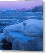 Anchorage Icebergs Metal Print