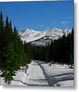 Anchorage Mountains Metal Print