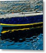 Anchored Boat Metal Print