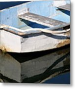 Anchored In The Harbor Metal Print