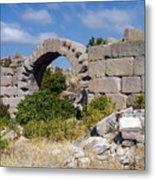 Ancient Bergama Acropolis Ruins Metal Print