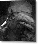 Ancient Black Horse No 1 Metal Print