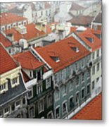 Ancient Buildings At Lisbon. Portugal Metal Print