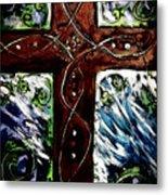 Ancient Cross Metal Print