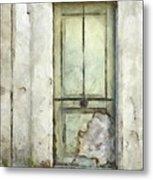 Ancient Doorway Rome Italy Pencil Metal Print