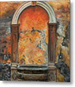 Ancient Italian Fountain Metal Print by Charlotte Blanchard