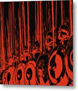 Ancient Macedonian Phalanx Metal Print