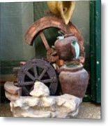 Model Of Ancient Water Mill In Greece  Metal Print
