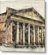 Ancient Pantheon Metal Print