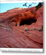 Ancient Ruins Mystery Valley Colorado Plateau Arizona 01 Text Metal Print