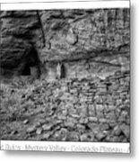 Ancient Ruins Mystery Valley Colorado Plateau Arizona 02 Bw Text Metal Print