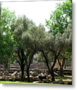 Ancient Ruins Temple Grounds 2 Metal Print