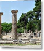 Ancient Ruins Wide Columns Metal Print