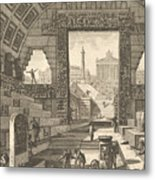 Ancient School Built According To The Egyptian And Greek Manners Metal Print