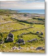 Ancient Settlement In The Burren Metal Print