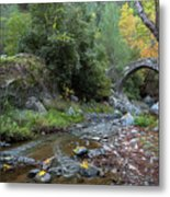 Ancient Stone Bridge Of Elia, Cyprus Metal Print