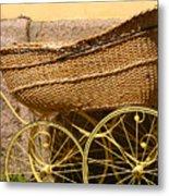 Ancient Swedish Baby Carriage Metal Print
