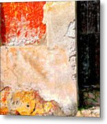 Ancient Wall 4 By Michael Fitzpatrick Metal Print