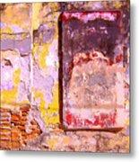 Ancient Wall 7 By Michael Fitzpatrick Metal Print