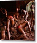 ancient wrestlers of India Metal Print