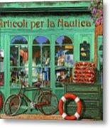 Ancora Una Bicicletta Rossa Metal Print
