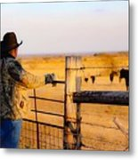 And God Made A Rancher Metal Print