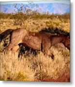 And She Was Running Metal Print
