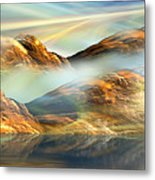 And The Light Shines On And On And On... Metal Print