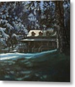 And The Lights Glowing Softly At Night Guide Us Home Metal Print