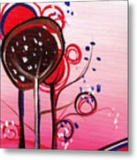 And The Sky Is Pink Metal Print