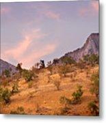 Andalucian Landscape Near Zahara De La Sierra Spain Metal Print