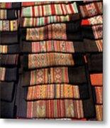 Andean Textile Market Metal Print