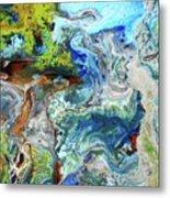 Andes-glacier...serie Metal Print