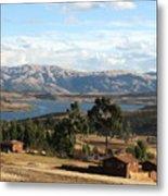 Andes Lake Metal Print