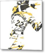 Andrew Mccutchen Pittsburgh Pirates Pixel Art 1 Metal Print