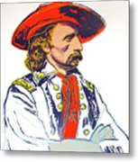 Andy Warhol, General Custer, Cowboys And Indians Series Metal Print