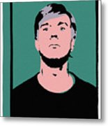 Andy Warhol Self Portrait 1964 On Green - High Quality - Stamp Edition 2012 Metal Print
