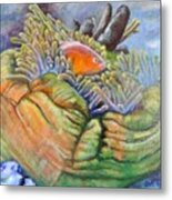 Anemone Coral And Fish Metal Print