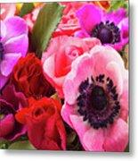 Anemones And Roses Metal Print