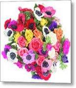 Bouquet Of Anemones Metal Print