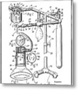 Anesthetic Machine Patent 1919  Metal Print