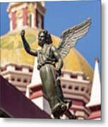 Angel And Cathedral Metal Print