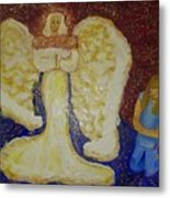 Angel And Child Metal Print