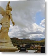Angel And Clouds Metal Print