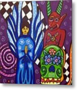 Angel And Devil-day Of The Dead Metal Print